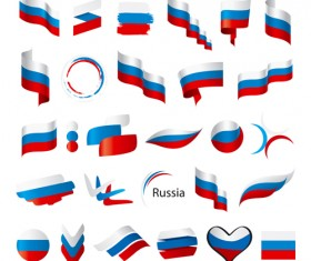Abstract flags Icons set vector 01