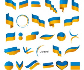 Abstract flags Icons set vector 03