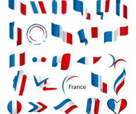 Abstract flags Icons set vector 04