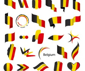 Abstract flags Icons set vector 07
