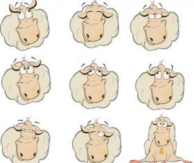 Amusing sheep illustration vector