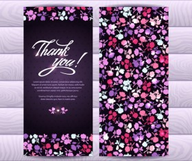 Beautiful floral pattern cards set 01