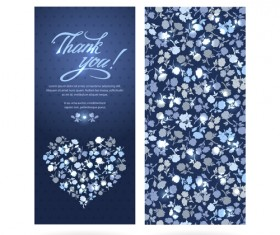 Beautiful floral pattern cards set 02