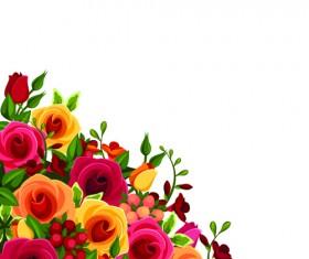Beautiful roses art background vector 01