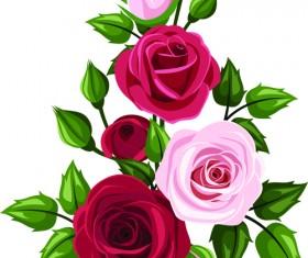 Beautiful roses art background vector 02