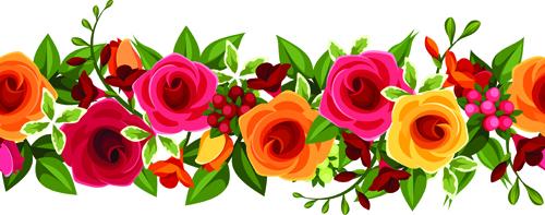 Beautiful roses art background vector 05