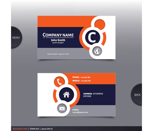 Best Company Business Cards Vector Design 02