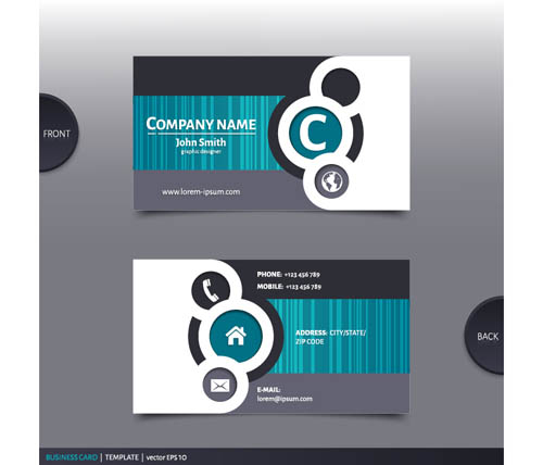 best company business cards vector design 04 vector card free