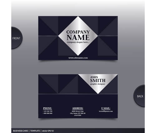 Best Company Business Cards Vector Design 08