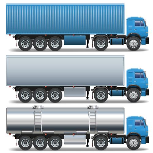 Blue big truck vector material