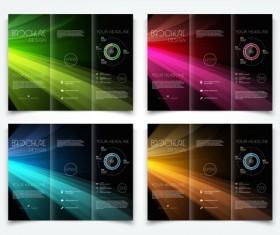 Bright brochure folding cover design vector 04