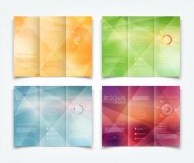 Bright brochure folding cover design vector 05