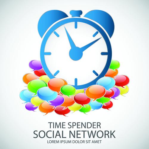 Business template social network vector design vector 01