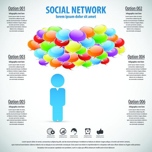 Business template social network vector design vector 04