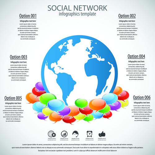 Business template social network vector design vector 05