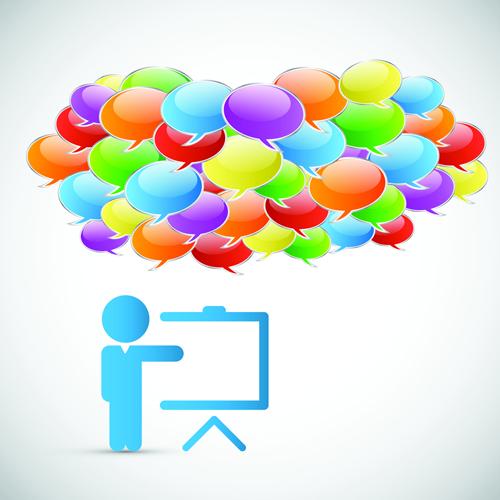 Business template social network vector design vector 07