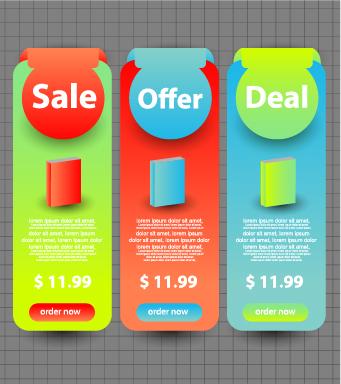 business website banners design vector 02 free download