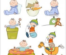 Cartoon baby clipart cute design 02