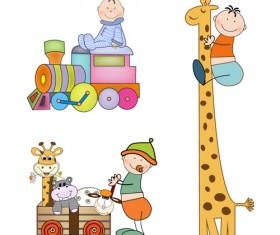 Cartoon baby clipart cute design 03