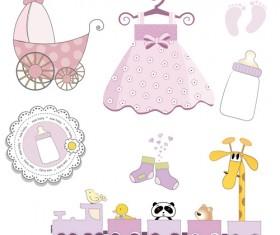 Cartoon baby clipart cute design 04