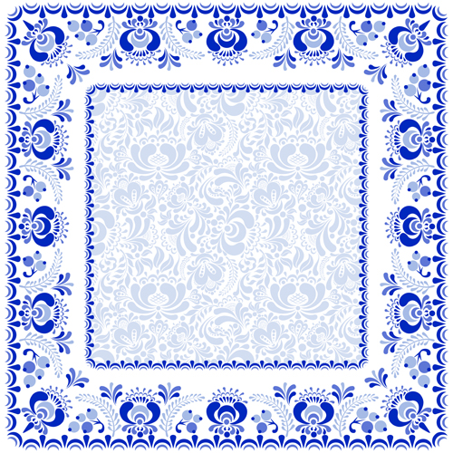 file chinese style blue and white frame vector download name chinese ...