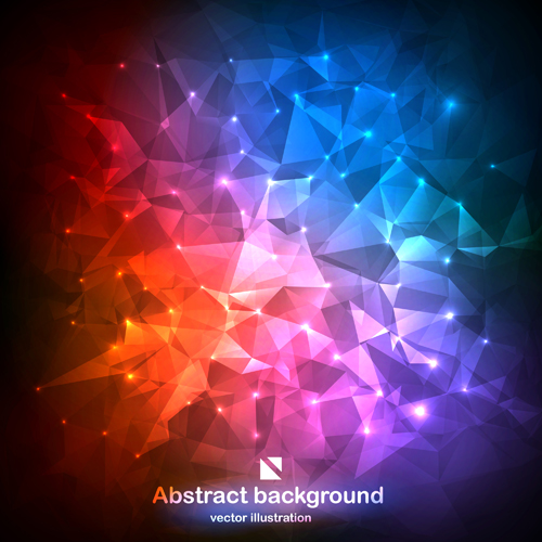 Colored geometric shapes background material