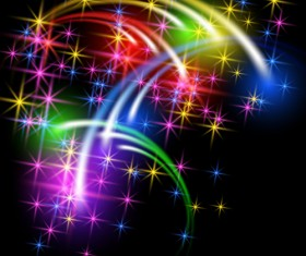Colored meteors rainbow background 01