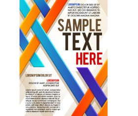 Creative business cover templates vector set 01
