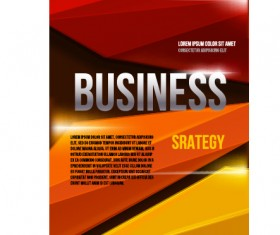 Creative business cover templates vector set 08