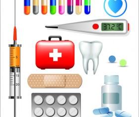 Creative design medical tool vector material 01