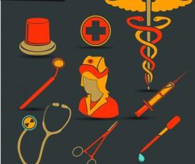 Creative design medical tool vector material 02