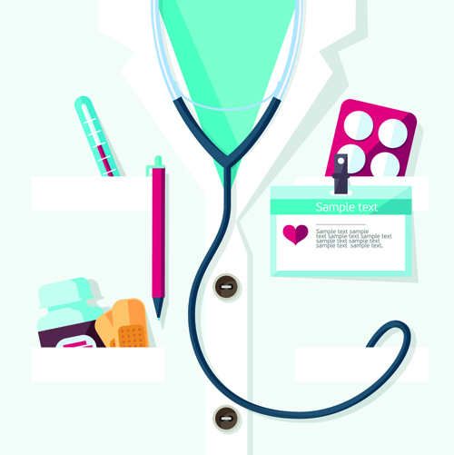 Creative design medical tool vector material 03