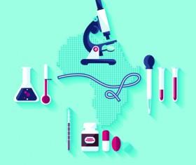 Creative design medical tool vector material 04