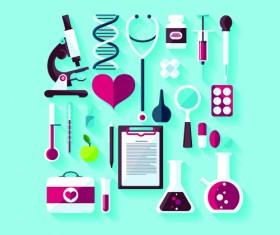 Creative design medical tool vector material 05