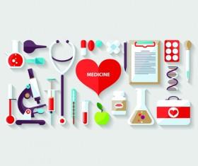 Creative design medical tool vector material 06