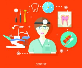 Creative design medical tool vector material 07