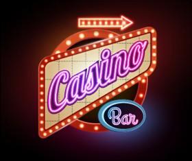 Creative neon advertising sign vector 02