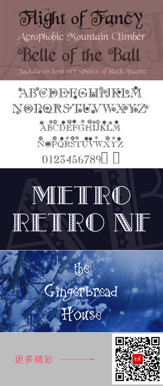 Delicate christmas special fonts