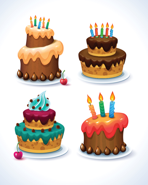 birthday cake vector for free download
