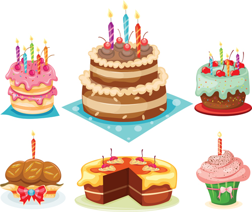 Images Of Delicious Birthday Cake : Delicious birthday cake creative vector 05 - Vector ...