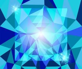 Diamond geometric shapes background vector 01
