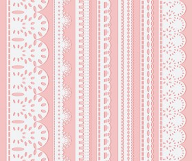 Different white Lace borders vector