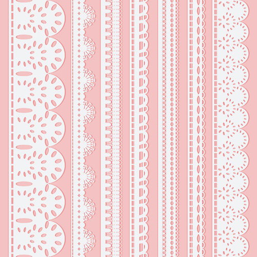 different white lace borders vector free download
