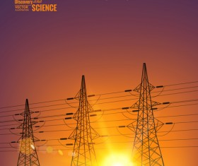 Discovery and science background design vector 01