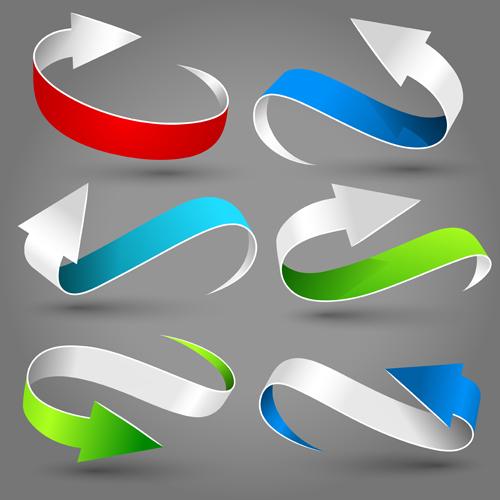 Dynamic colored arrows vector design