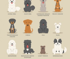 Eastern european dogs icons material