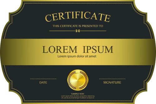 Elegant Certificate Template Vector Design 08 Free Download