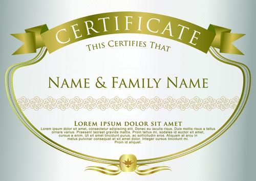 elegant certificate template vector design 09 free download