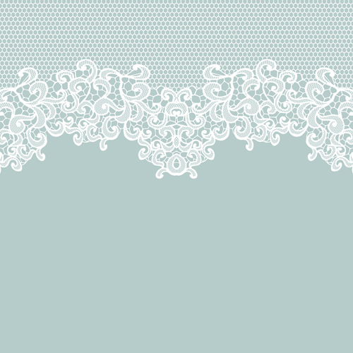 Elegant white lace vector background 01