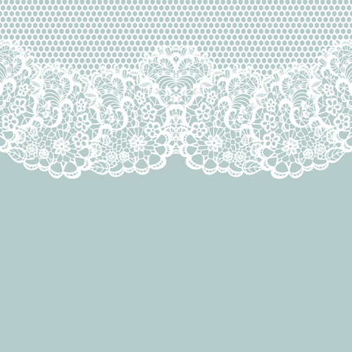 Elegant white lace vector background 02